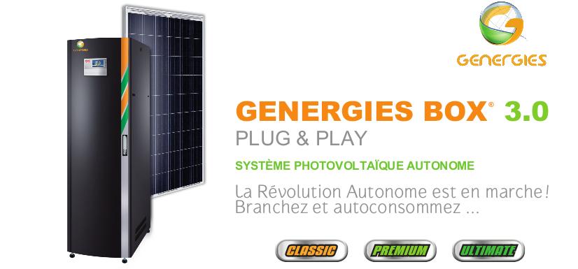 GENERGIEBOX système photovoltaïque autonome