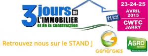 Présentation de nos chauffe eau solaire et kits photovoltaiques durant les 3 jours de l'immobilier en Guadeloupe