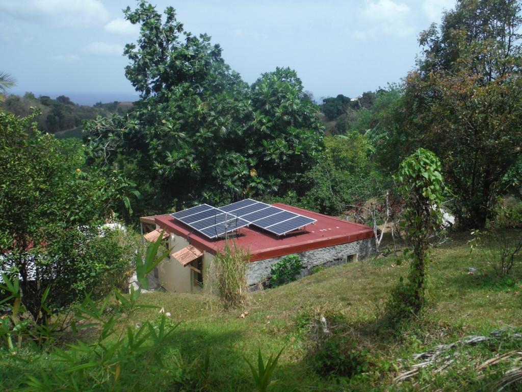 Exemple de Site Isolé en Electricité photovoltaique en Martinique